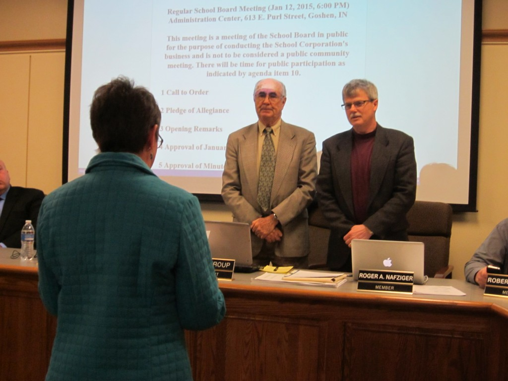 Mr. José Ortiz and Mr. Roger Nafziger are sworn in